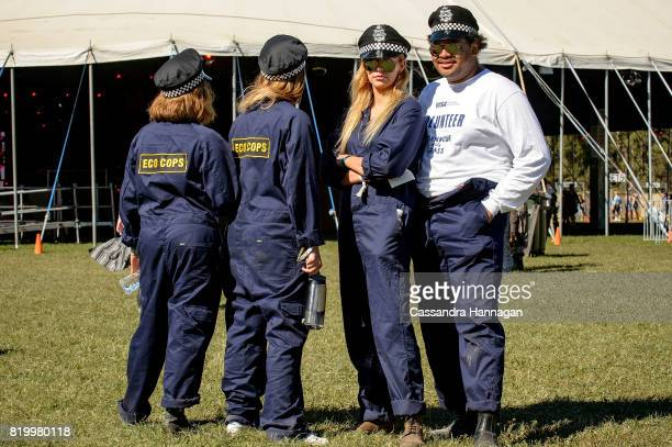 The Eco cops during Splendour in the Grass 2017 on July 21 2017 in Byron Bay Australia