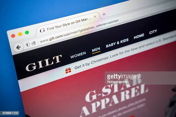 The ecommerce website of the Gilt Groupe is seen on a computer on Tuesday, December 15, 2015. The Hudson's Bay Company is reported to be in talks to...