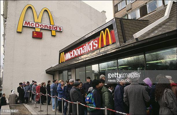 The Economic Crisis In Moscow On November 1St1990 Line In Front Of Mcdonald'S