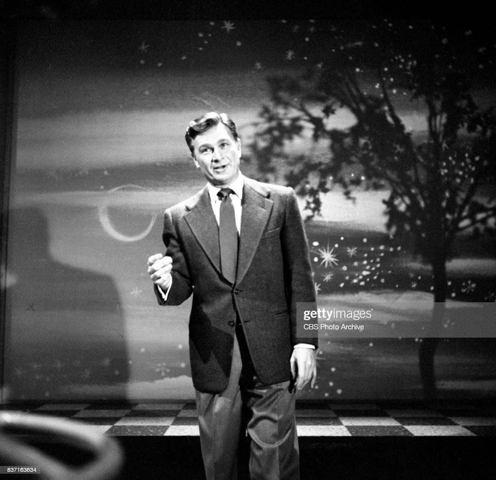 The Eddie Albert Show CBS television daytime variety program. Pictured is host Eddie Albert. New York, NY. Image dated April 20, 1953.