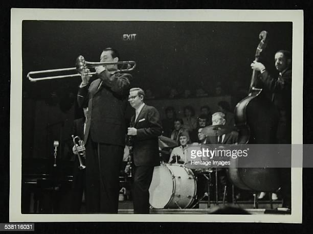 The Eddie Condon All Stars in concert Colston Hall Bristol 1957 Robert 'Cutty' Cutshall Bob Wilber George Wettling and Leonard Gaskin Artist Denis...