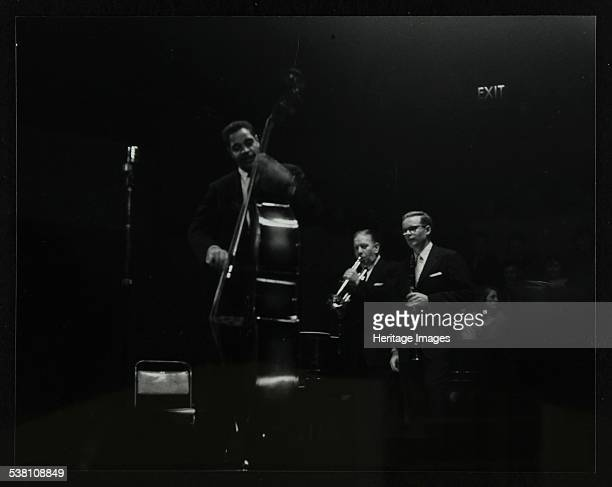The Eddie Condon All Stars on stage at Colston Hall Bristol 1957 Leonard Gaskin Wild Bill Davison and Bob Wilber Artist Denis Williams