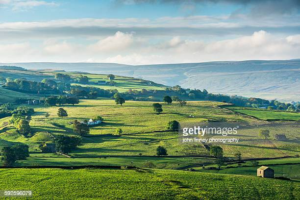 the eden valley landscape. uk. - cumbria stock pictures, royalty-free photos & images