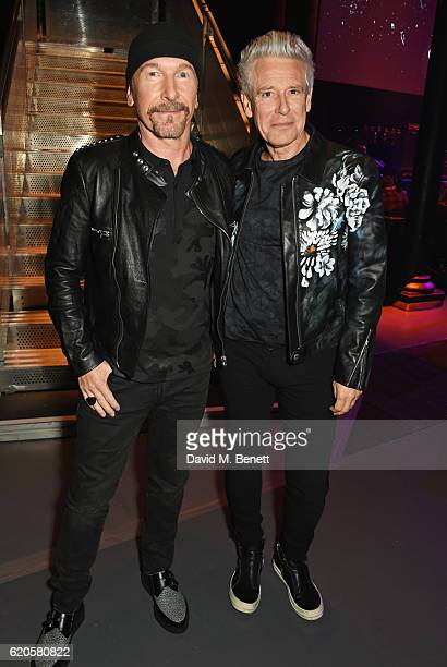 The Edge and Adam Clayton of U2 attend a drinks reception at The Stubhub Q Awards 2016 at The Roundhouse on November 2 2016 in London England