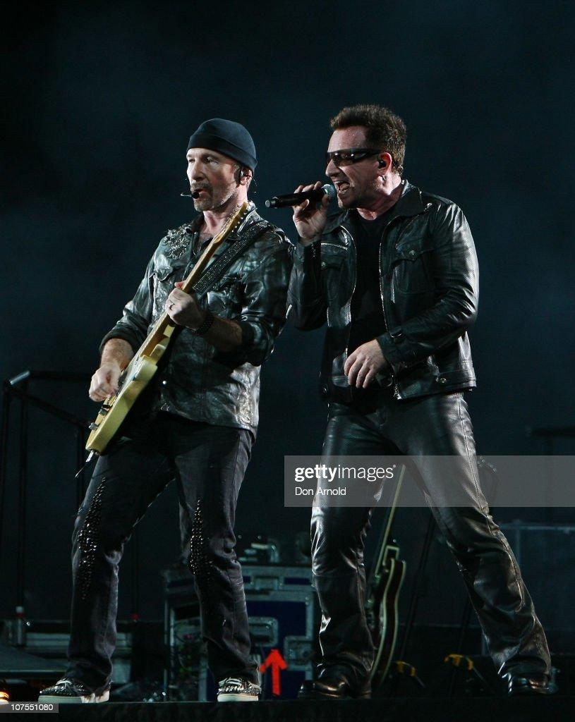 U2 Performs In Sydney : News Photo