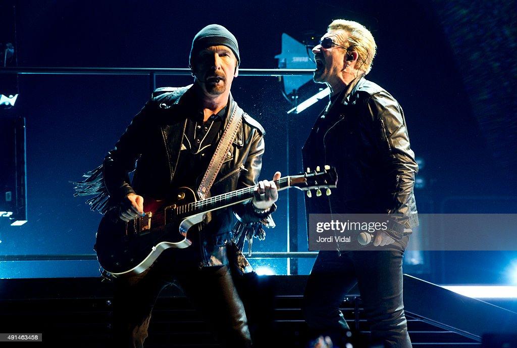 U2 Performs in Concert in Barcelona