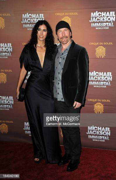 The Edge and Morleigh Steinberg attend the opening night of Cirque Du Soleil's 'Michael Jackson The Immortal World Tour' at 02 Arena on October 12...