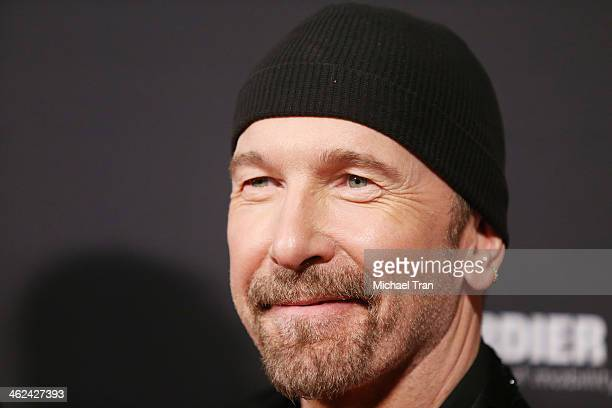 The Edge arrives at The Weinstein Company and NetFlix 2014 Golden Globe Awards after party held on January 12, 2014 in Beverly Hills, California.