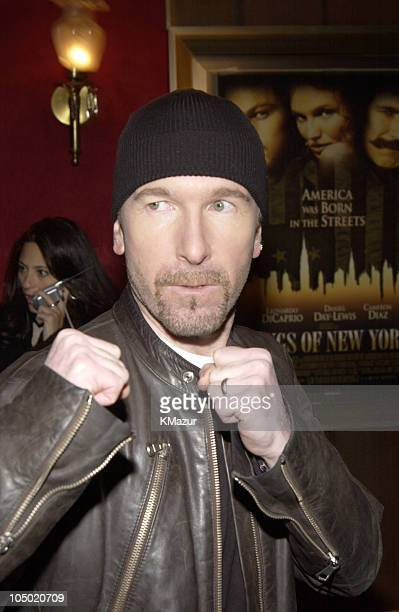 The Edge during Gangs of New York World Premiere at Ziegfeld Theater in New York City New York United States