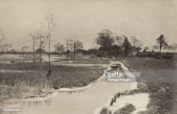 The Edge of the Broad, 1890-1891, printed 1893. Artist Dr Peter Henry Emerson. .