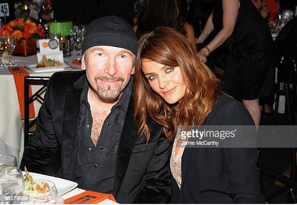 The Edge of U2 and model Helena Christensen attend the Food Bank for New York City's 8th Annual CanDo Awards dinner at Abigail Kirsch�s Pier Sixty at...