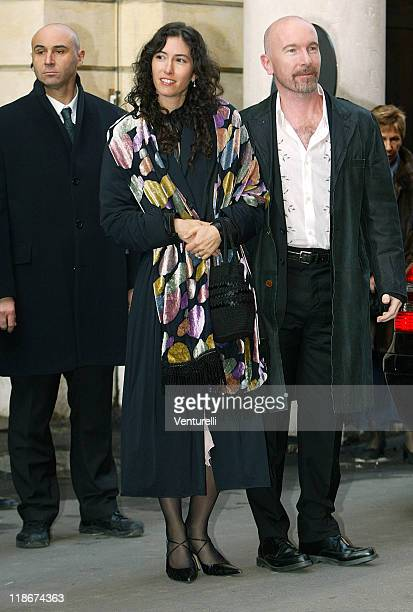 The Edge of U2 and wife Morleigh Steinberg during Luciano Pavarotti Marries Nicoletta Mantovani at Teatro Comunale in Modena in Modena Italy