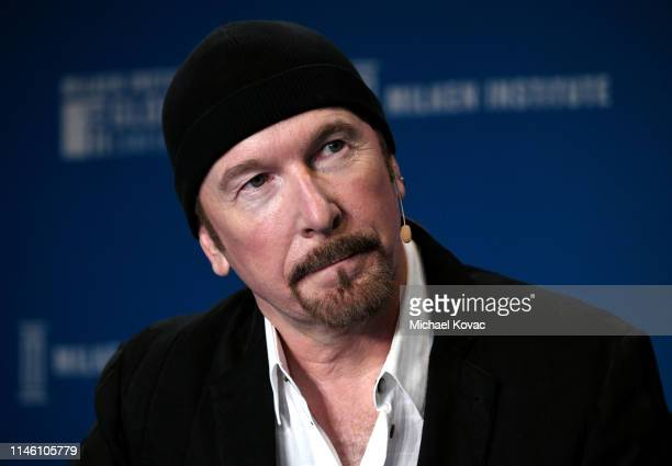 The Edge participates in a panel discussion during the annual Milken Institute Global Conference at The Beverly Hilton Hotel on April 29 2019 in...