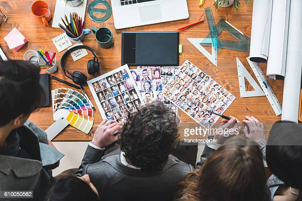 The editor at work choosing the right image