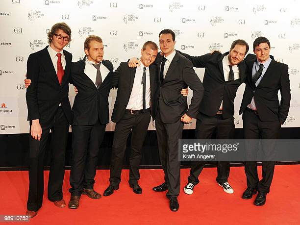 The editorial team of '11Freunde' attends the HenriNannenAward at the Schauspielhaus on May 7 2010 in Hamburg Germany