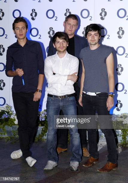 The Editors during O² Silver Clef Lunch Outside Arrivals at London Hilton in London Great Britain