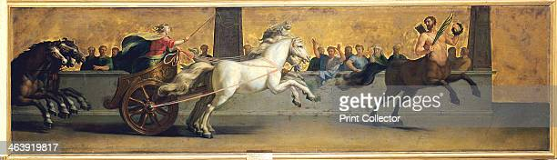 'The Education of Achilles Chariot Racing' midlate 17th century Led by a centaur the young Achilles drives a chariot pulled by four white horses in...