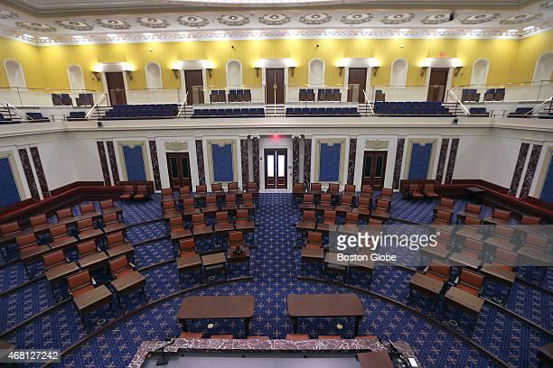 The Edward Kennedy Institute replica of the US Senate chamber