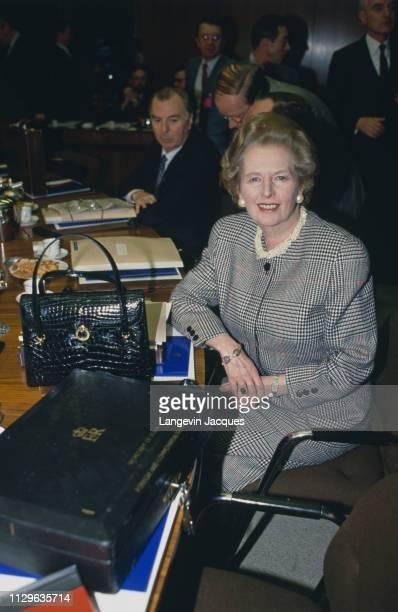 The EEC Summit British Prime Minister Margaret Thatcher