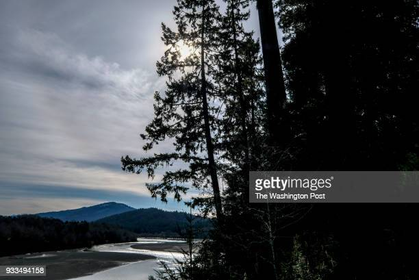 The Eel River snakes past Humboldt Redwoods State Park in Humboldt County CA on March 6 2018 Environmentalists are concerned about the impacts of...