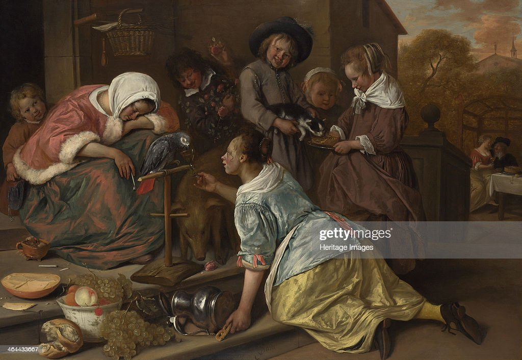 The Effects of Intemperance, ca 1665. Artist: Steen, Jan Havicksz (1626-1679) : News Photo