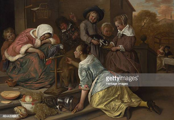 The Effects of Intemperance ca 1665 Found in the collection of the National Gallery London