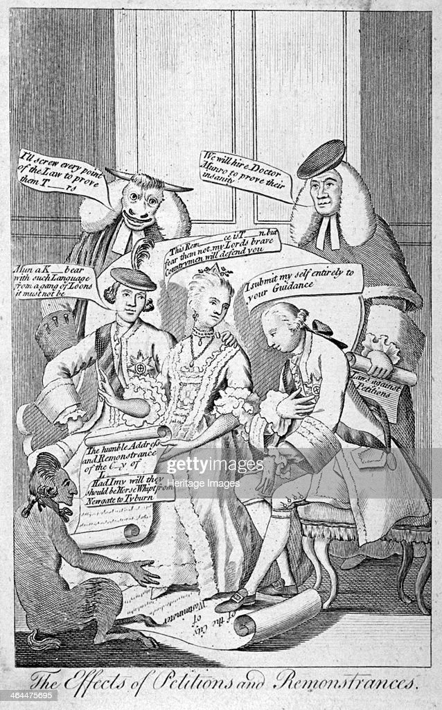 The Effects Of Petitions And Remonstrances 1770 Augusta The