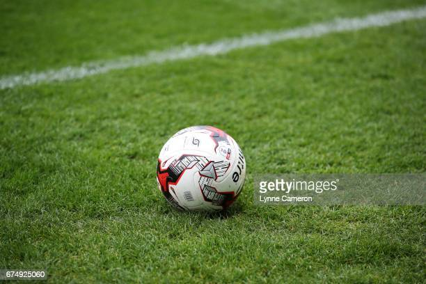 The EFL match ball during the Sky Bet League Two match between Doncaster Rovers and Exeter City at Keepmoat Stadium on April 29 2017 in Doncaster...