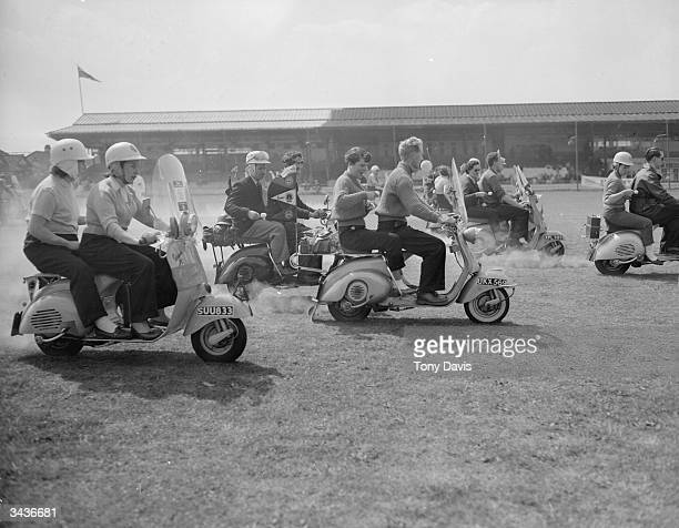 The egg and spoon race on Vespa scooters