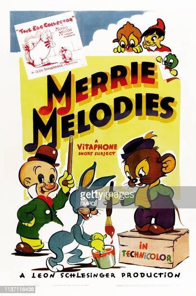 The Egg Collector poster poster for a Merrie Melodies Vitaphone animated short Elmer Fudd early version of Bugs Bunny Sniffles the mouse 1940