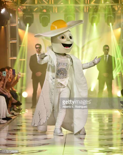 The Egg participates in a runway show for the premiere of Fox's The Masked Singer Season 2 at The Bazaar at the SLS Hotel Beverly Hills on September...