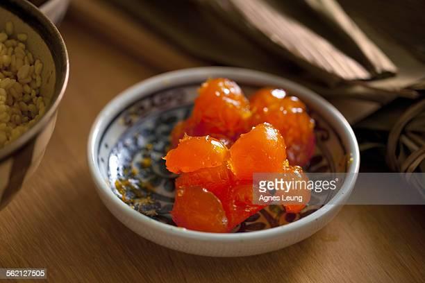 The egg yolk for making Chinese rice dumpling