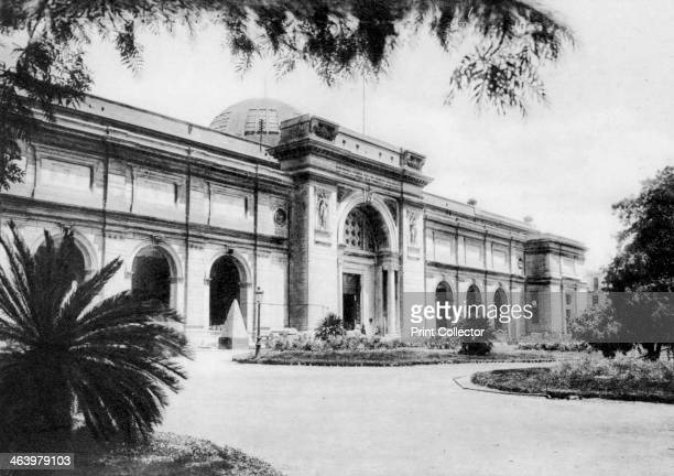 The Egyptian Museum Cairo Egypt c1920s Plate taken From In the Land of the Pharaohs published by Lehnert Landrock