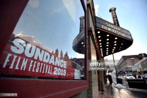 The Egyptian Theatre is seen along Main Street during the 2019 Sundance Film Festival on January 24 2019 in Park City Utah