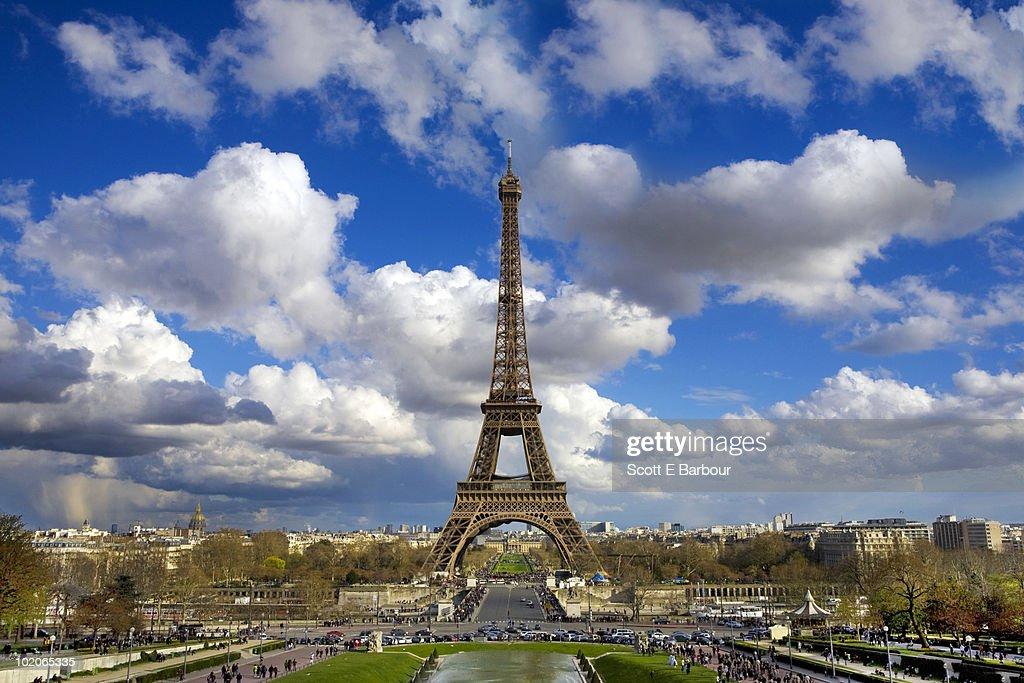 The Eiffel Tower and Paris skyline : Stock Photo