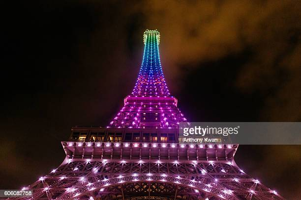 The 'Eiffel Tower' is seen at the Shoppes at Parisian on September 14 2016 in Macau Macau