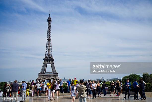 The Eiffel Tower on July 31 2015 in Paris Frankreich