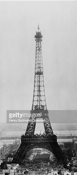 The Eiffel Tower under construction in Paris France 31st March 1889 No 11 in a series of 11 Théophile Féau captured the construction of the tower by...