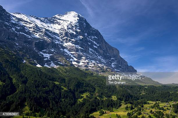 The Eiger mountain North Face in the Swiss Alps in the Bernese Oberland Switzerland