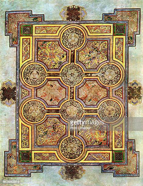 The Eight Circled Cross 800 AD A 20thcentury copy of the illustrated manuscript produced by Celtic monks around AD 800 Illustration from The Book of...