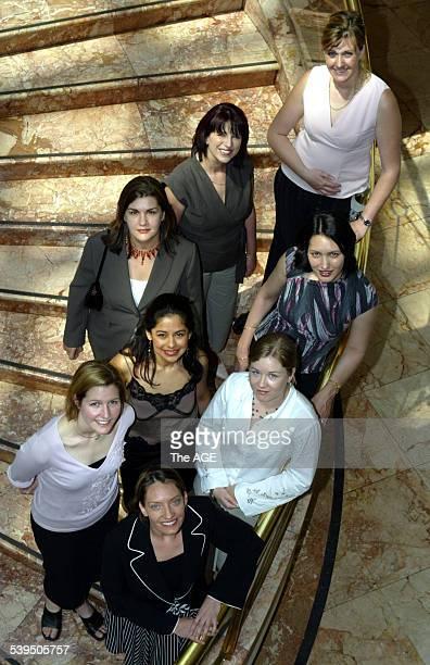 The eight finalists in the Telstra Business Women's Awards Sam Denmead Indy Rosenbaum Carolina Gonsalez llea Kerans Jennifer Kerr Josephine Rose...