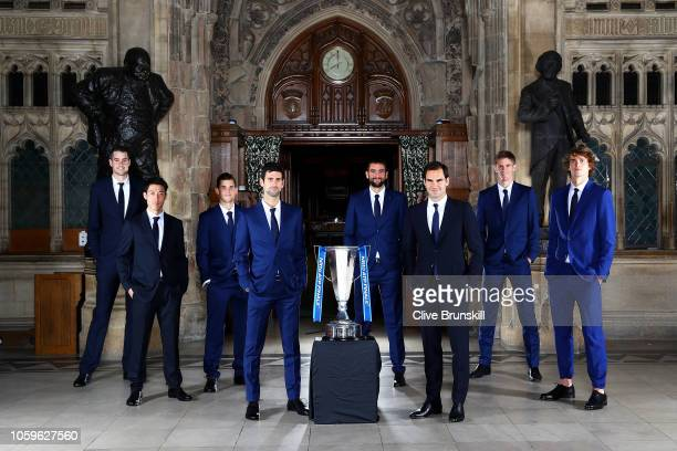 The eight singles players competing at the Nitto ATP Finals come together at London's iconic Houses of Parliament for the Nitto ATP Finals Official...