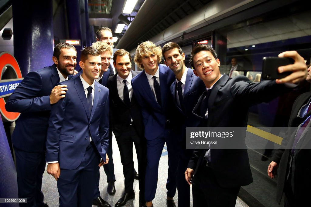 Nitto ATP Finals Players Take The London Underground : Nachrichtenfoto