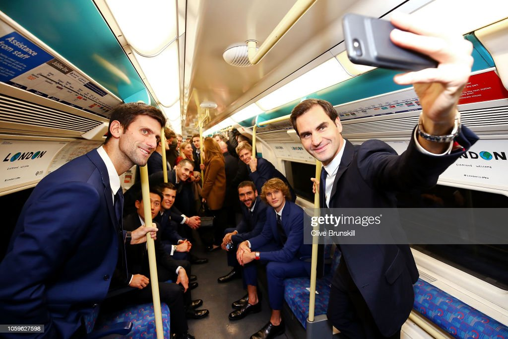 Nitto ATP Finals Players Take The London Underground : ニュース写真