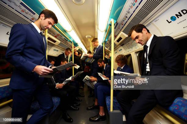 The eight singles players competing at the Nitto ATP Finals take the Jubilee line on the London Underground from North Greenwich station to...