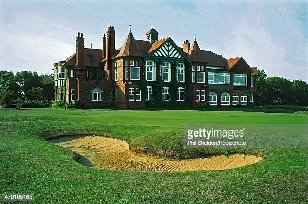 The eighteenth hole and clubhouse of the Royal Lytham and St Annes Golf Club Lancashire 30th October 2000