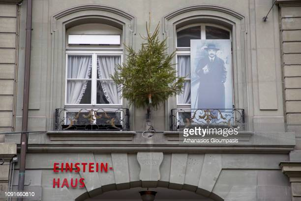 The Einstein House on January 01 2019 in Bern Switzerland The Einstein House is a museum and a former residence It is located on Kramgasse A flat on...