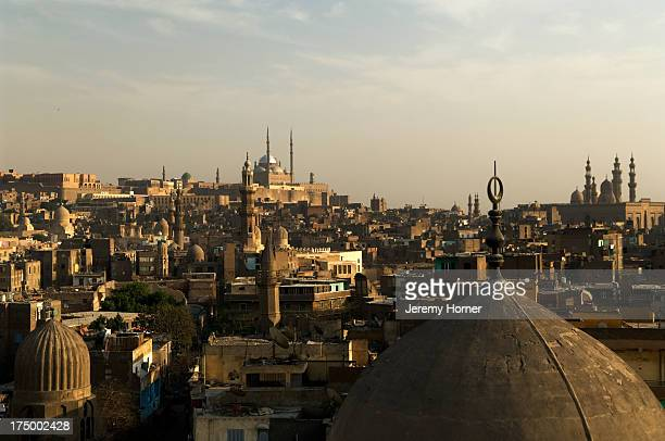 The El Azhar Mosque which affords some of the best views over old Cairo from its minaret