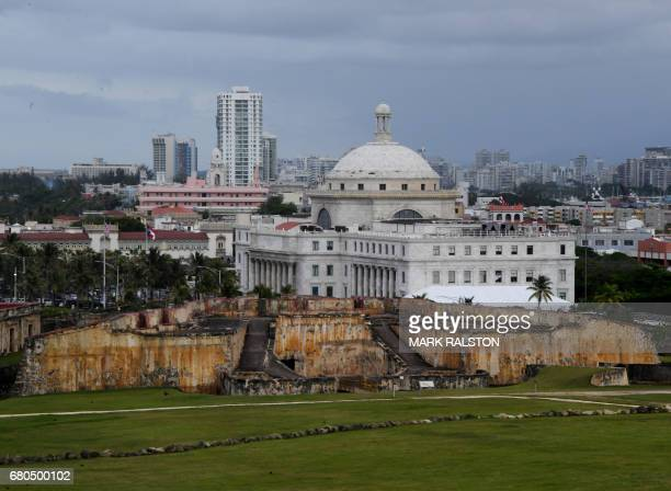 The El Capitolio de Puerto Rico the Legislative House is pictured on May 8 2017 in San Juan Puerto Rico as the former Spanish colony of 35 million...