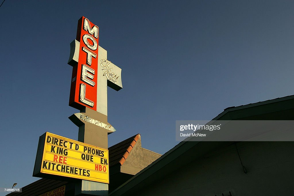 The El Rey Motel is still open for business on old Route 66 on June 15, 2007 in Rialto, California. Route 66 opened in 1926 stretching from Chicago to Los Angeles and became a western migration route for people looking for work during the great depression of the 1930's or to escape the Dust Bowl disaster. Later it offered vacation getaways and driving adventures until 1985 when it was decommissioned as a federal highway. Due to neglect and commercial development Route 66, the first highway to connect the Midwest with the West Coast, has recently been added to the biennially compiled list of the world's most endangered landmarks by the World Monuments Fund and the National Trust for Historic Preservation's yearly list of the 11 most endangered historic places in America.